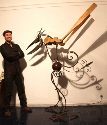 Simon Blades with one of his creations.
