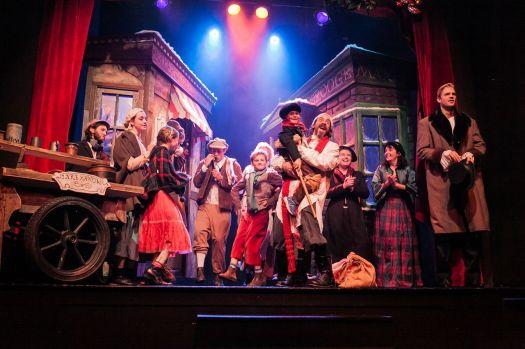 The Christmas Carol company onstage PHOTO CREDIT AIMEE K PHOTOGRAPHY